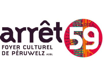 Identité visuelle et supports de communication pour Arrêt59, foyer culturel de Péruwelz.